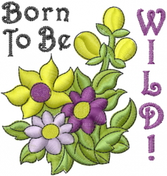 Wild Garden Flowers embroidery design