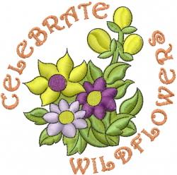 Wild Garden Flowers embroidery design