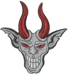 Gargoyle Head embroidery design