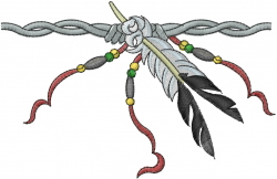 Eagle Feather embroidery design