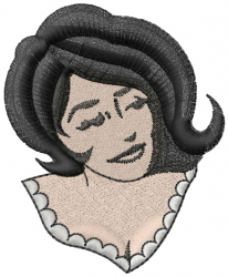 Lady embroidery design