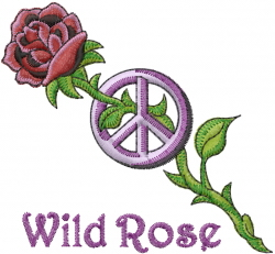 Wild Rose embroidery design