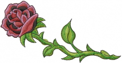Long Stem Rose embroidery design