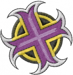 Medieval Cross Symbol embroidery design