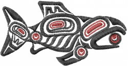 Tribal Fish embroidery design