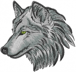 Wolf Face embroidery design