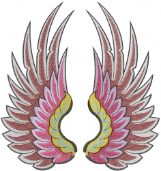 Wings Symbol embroidery design