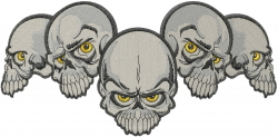 Five Skulls embroidery design