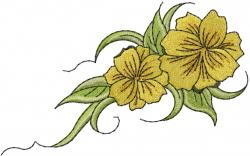 Flowers On Vine embroidery design