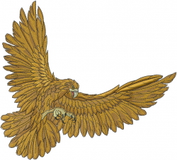 Hawk Attack embroidery design