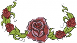 Rose Garland embroidery design