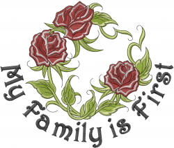 My Family Is First embroidery design