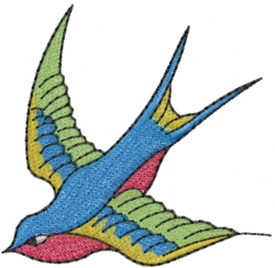 Sparrow embroidery design