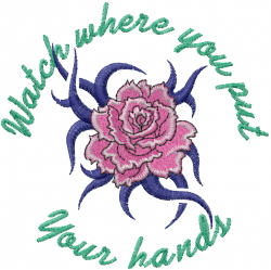 Your hands embroidery design