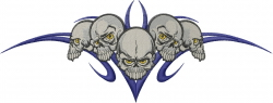 Five Skulls embroidery design
