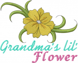 Grandmas Lil Flower embroidery design