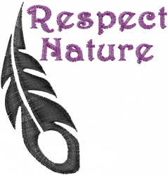 Respect Nature embroidery design