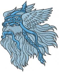 Greek God Zeus embroidery design