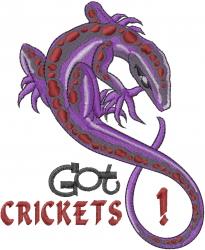 Got Crickets embroidery design