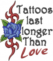 Last Longer Than Love embroidery design