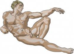 Michelangelo Man embroidery design