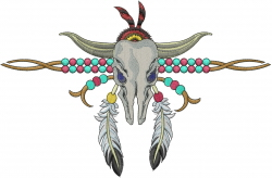 South Western Cow embroidery design
