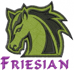 Friesian embroidery design