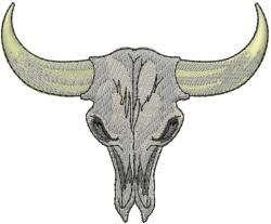 Steer Skull embroidery design