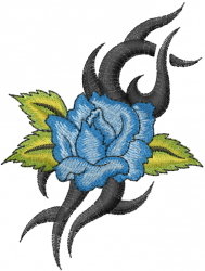 Blue Rose embroidery design