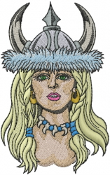 Viking Woman embroidery design