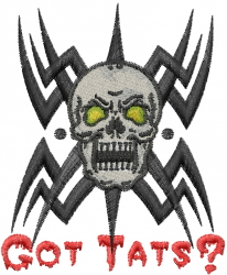 Got Tats embroidery design
