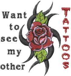 My Other Tattoos embroidery design
