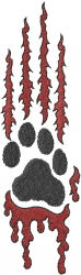 Bloody Paw Print embroidery design