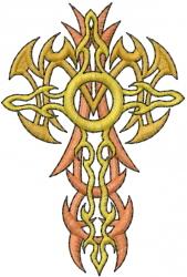Cross Tattoo embroidery design