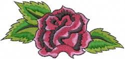 Single Rose embroidery design