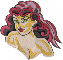Sexy Pirate Woman embroidery design