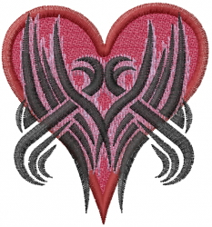 Tribal Heart Tattoo embroidery design