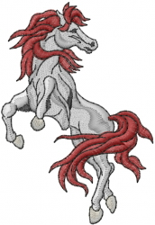 White Horse embroidery design