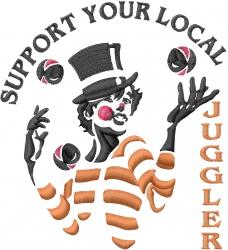 Juggler embroidery design