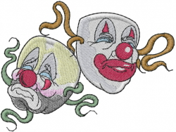 Clown Masks embroidery design