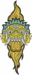 Dragon Face embroidery design
