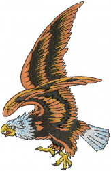 Eagle Flying embroidery design