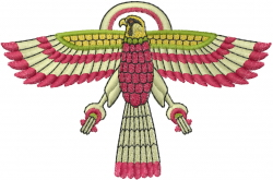 Egyptian Eagle Bird embroidery design