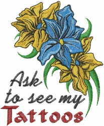 Ask To See embroidery design