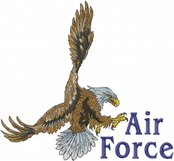 Air Force embroidery design