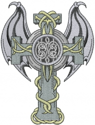 Gothic Cross embroidery design