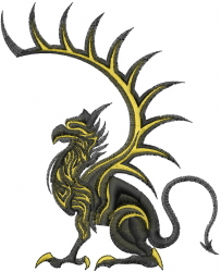 Gryphon embroidery design