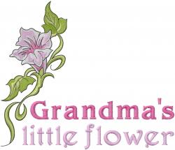 Grandmas Little Flower embroidery design
