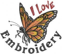 I Love Embroidery embroidery design