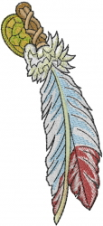 Native American Feather embroidery design